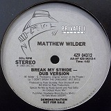 MATTHEW WILDER / BREAK MY STRIDE