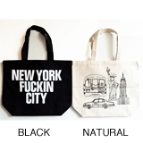 ANORAKS / LIFE IS JOURNEY TOTE (NEWYORK NATURAL)