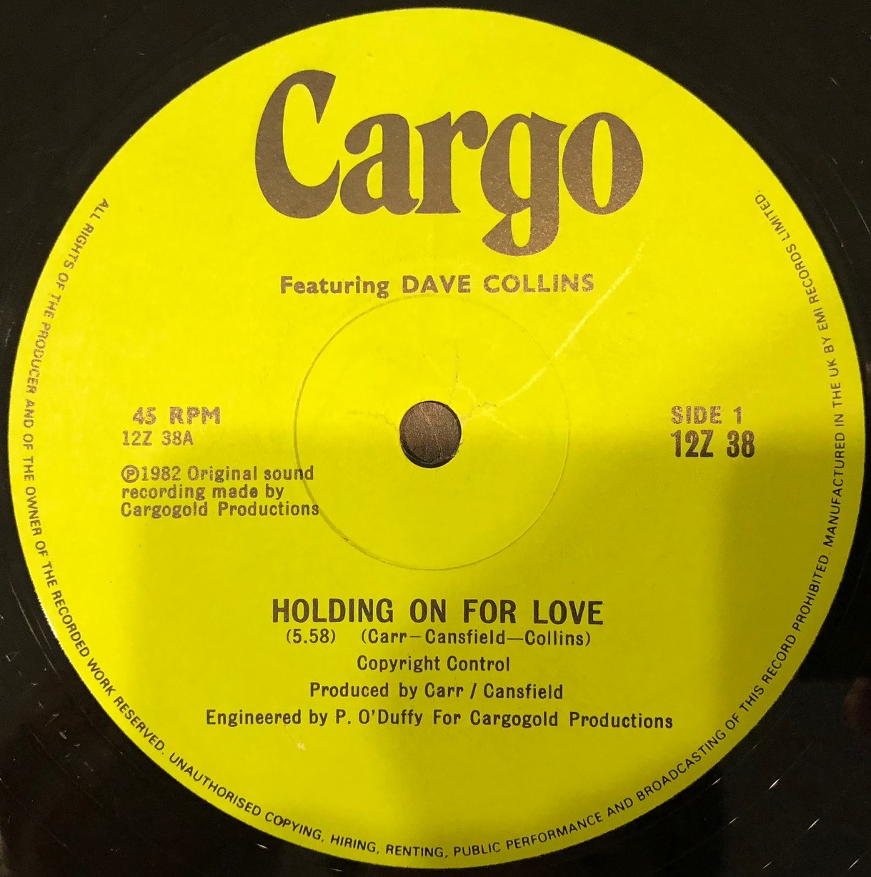CARGO / HOLDING ON FOR LOVE