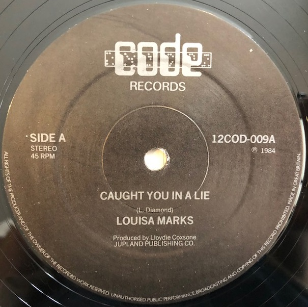 LOUISA MARKS / CAUGHT YOU IN A LIE