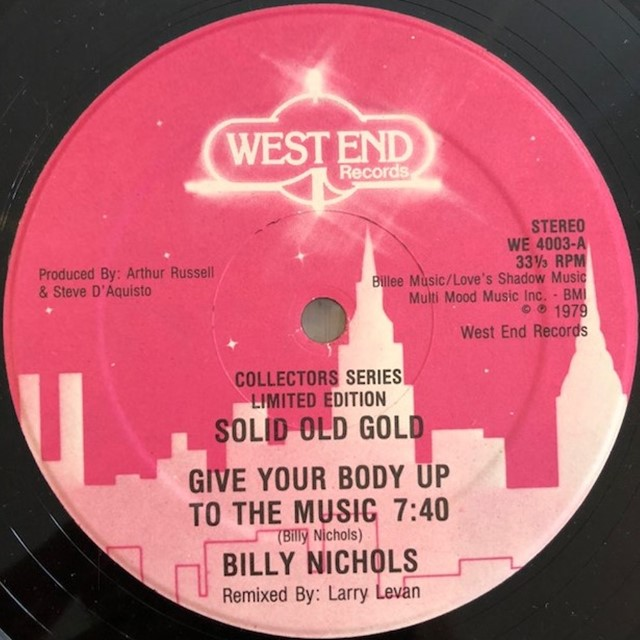 BILLY NICHOLS / GIVE YOUR BODY UP TO THE MUSIC