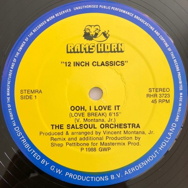 SALSOUL ORCHESTRA / OOH. I LOVE IT (LOVE BREAK)