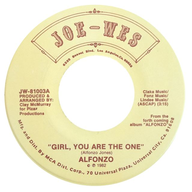 ALFONZO ‎/ GIRL, YOU ARE THE ONE