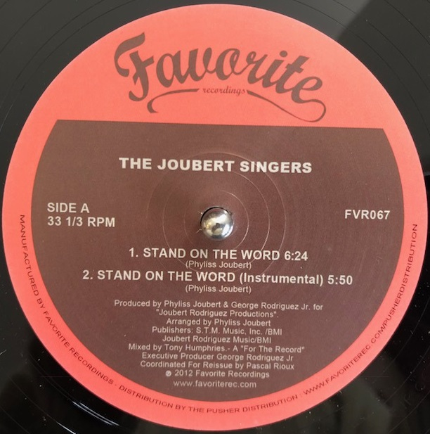 JOUBERT SINGERS ‎/ STAND ON THE WORD