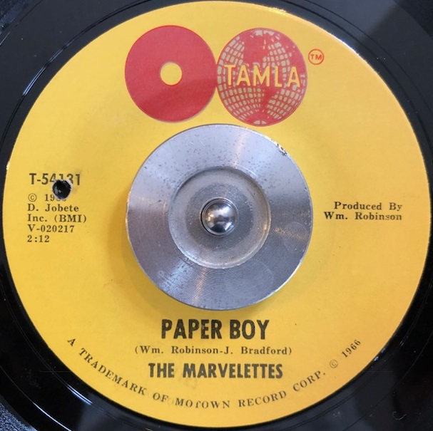 MARVELETTES / PAPER BOY / YOU'RE THE ONE