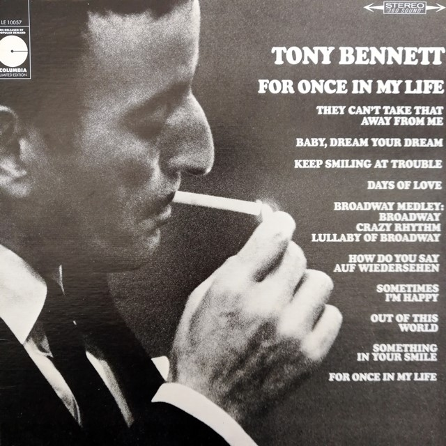 TONY BENNETT ‎/ FOR ONCE IN MY LIFE