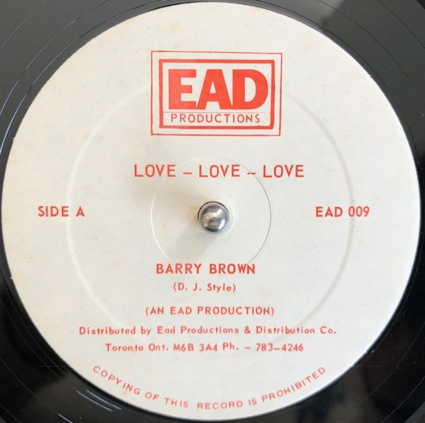 BARRY BROWN / LOVE LOVE LOVE