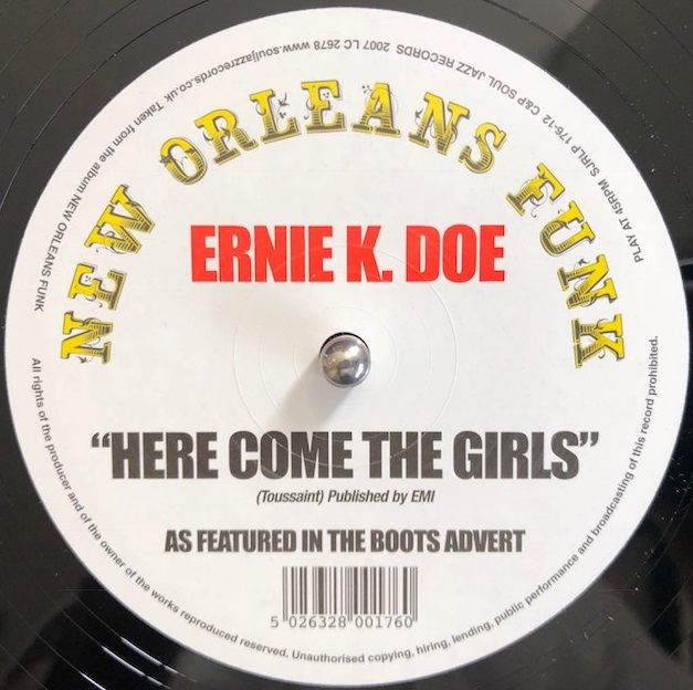 ERNIE K. DOE / HERE COME THE GIRLS
