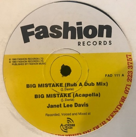 JANET LEE DAVIS ‎/ BIG MISTAKE / LATE NIGHT BLUES