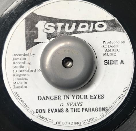 DON EVANS & THE PARAGONS / DANGER IN YOUR EYES