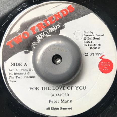 PETER MANN / FOR THE LOVE OF YOU