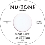 LONNIE LESTER / SO THIS IS LOVE