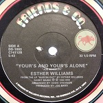 ESTHER WILLIAMS / YOUR'S AND YOUR'S ALONE