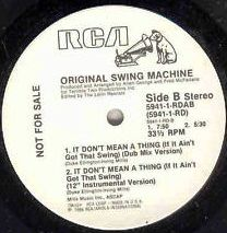 ORIGINAL SWING MACHINE / IT DON'T MEAN A THINGのアナログレコードジャケット